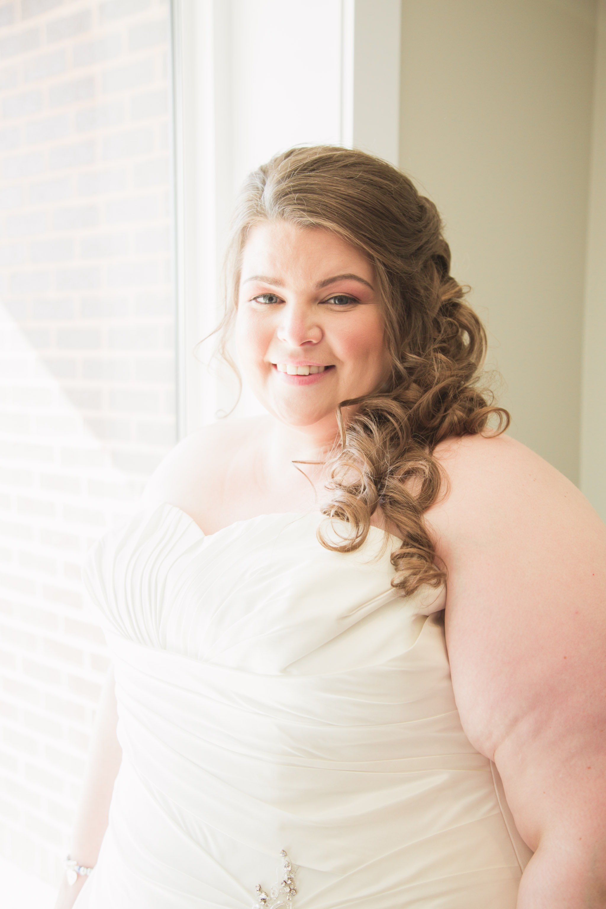 Image of the bride smiling