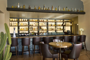 The bar features a wide selection of top shelf tequila Copyright: Dean Stevenson
