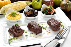 Steak sampler offers three treats.