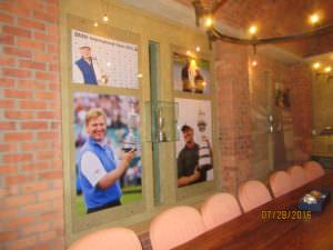 Ernie Els trophy room at his winery