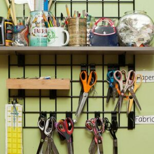 Organize your sewing supplies like scissors and buttons!