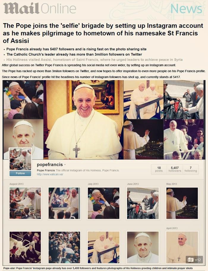 pope selfie king