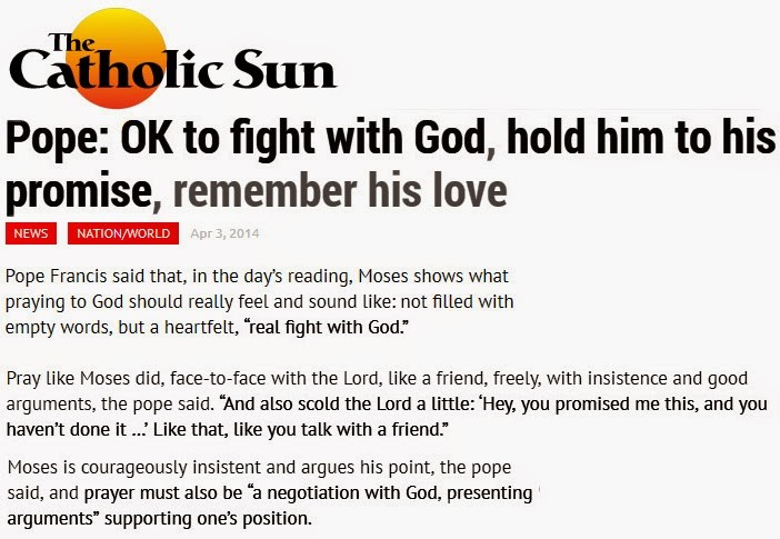 pope fight with God