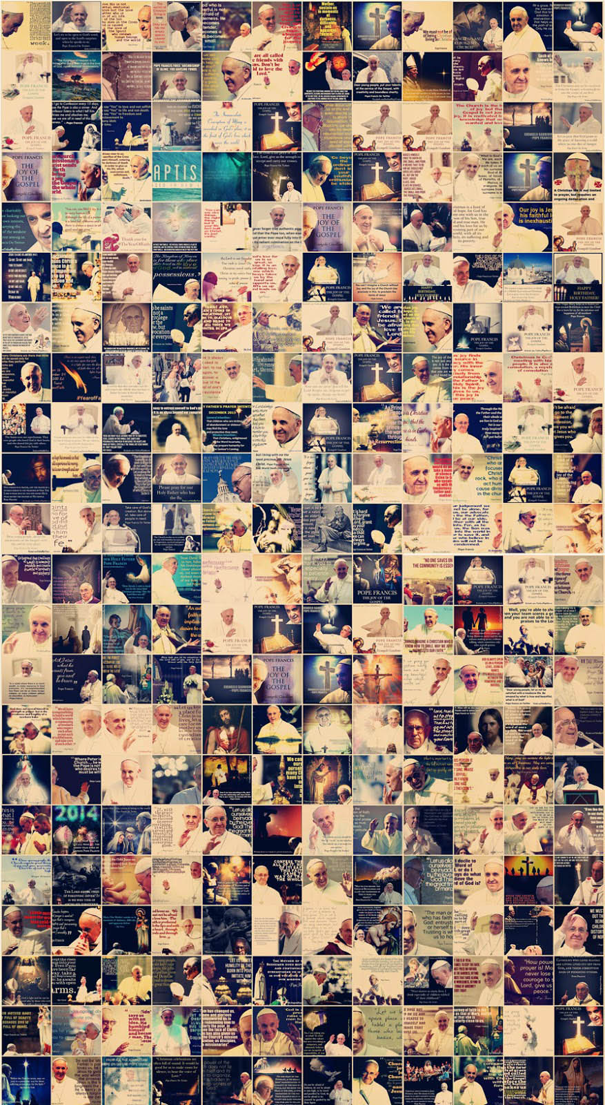 collage of memes of pope francis