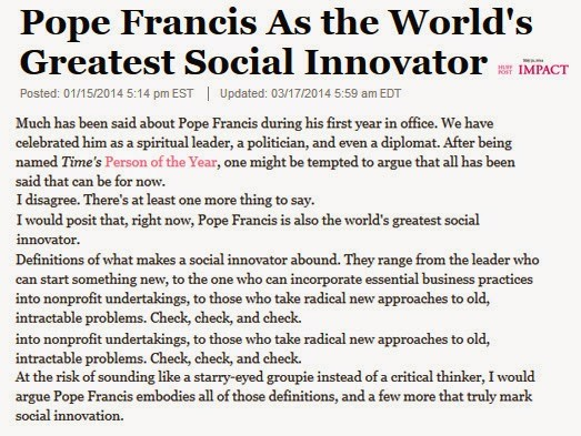 social reform by pope francis
