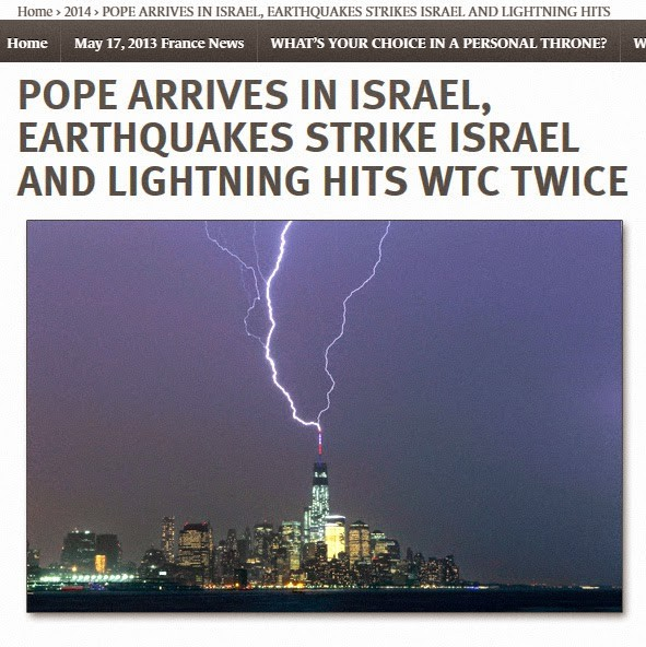 pope francis lightning earthquake