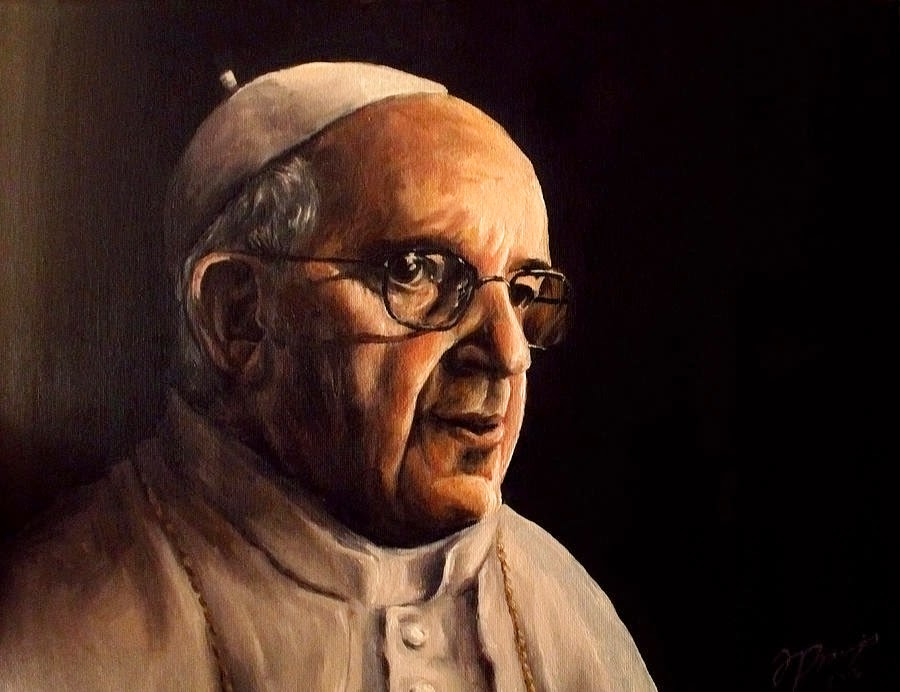 pope francis painting