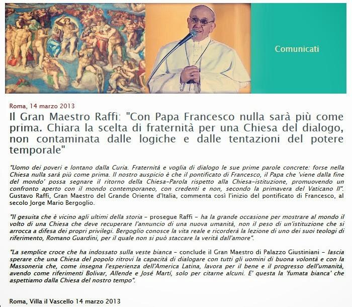 masons celebrate pope francis