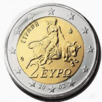 the wild voice - euro coin woman riding beast