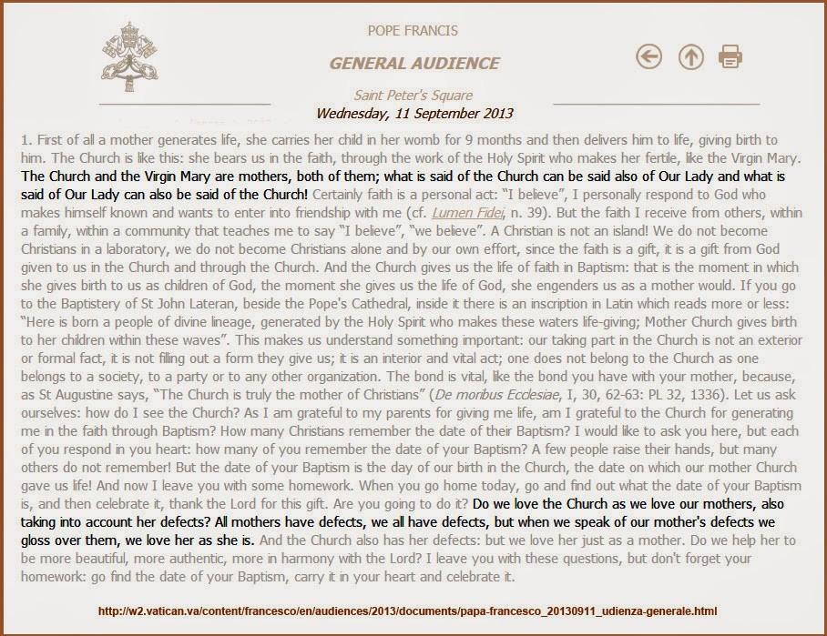 vatican statement - the wild voice