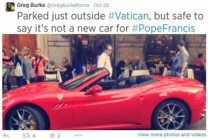 pope ferrari tweet