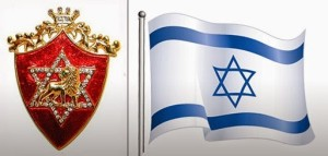 rothschild crest and israeli flag