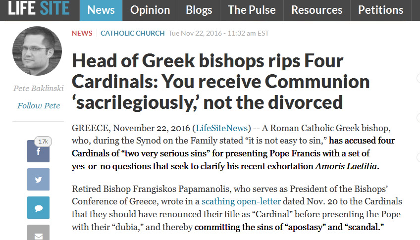 pope francis dubia cardinals