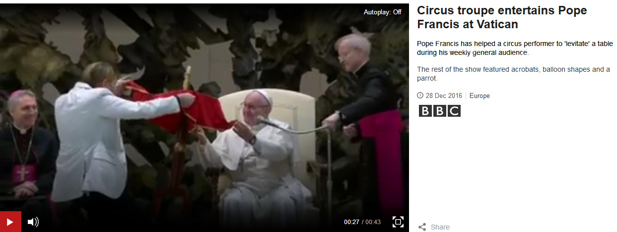 pope francis false prophet magic show