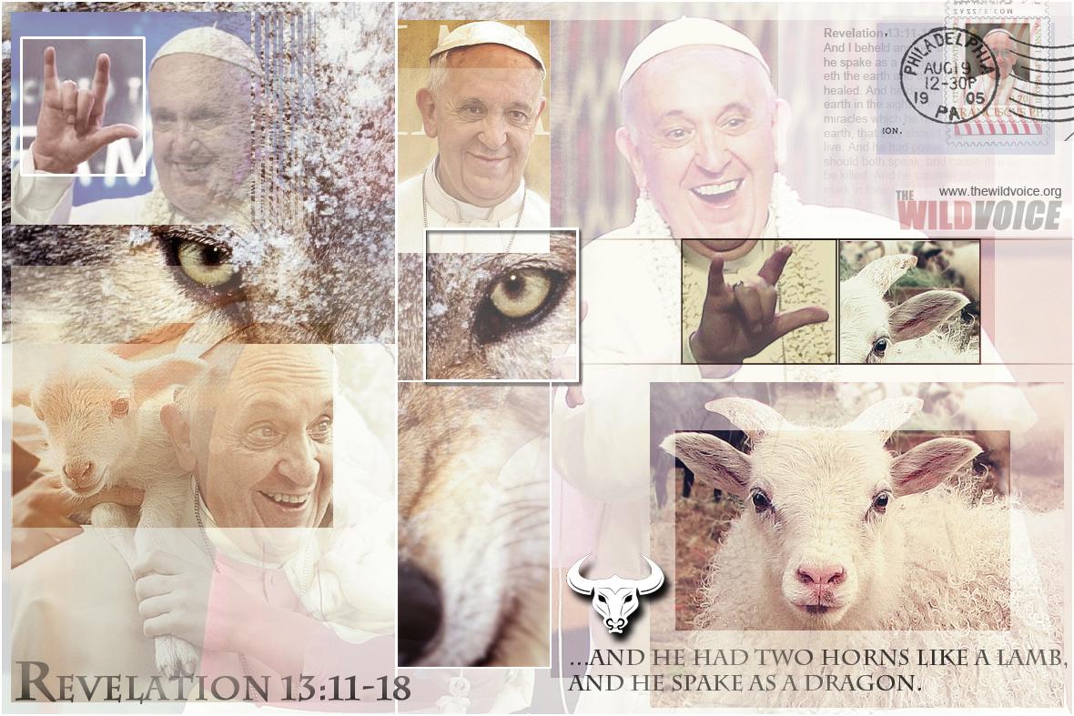 Pope, Francis, False, Prophet, horn, devil, devil's, Bergoglio,