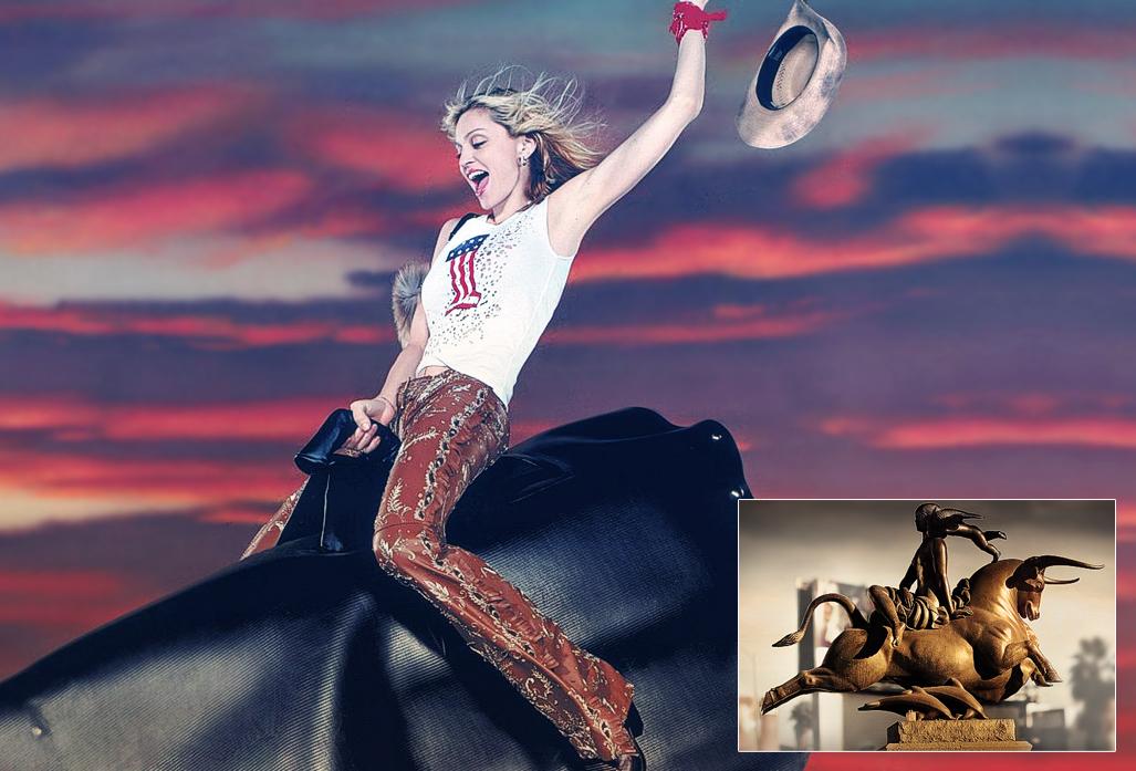 madonna riding bull 2