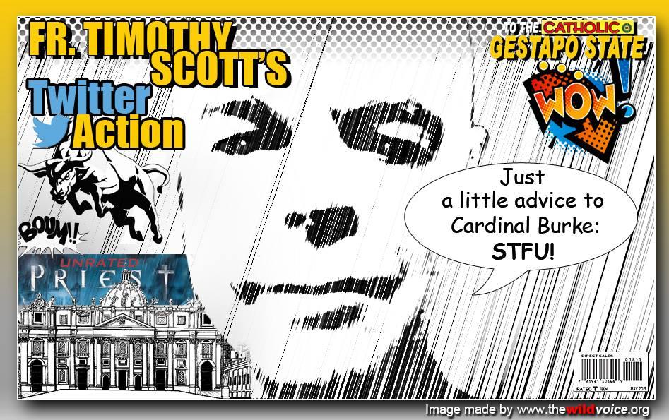 STFU Father Timothy Scott Cardinal Burke tweet