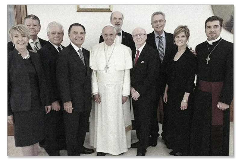 pope francis with copeland and other evangelists