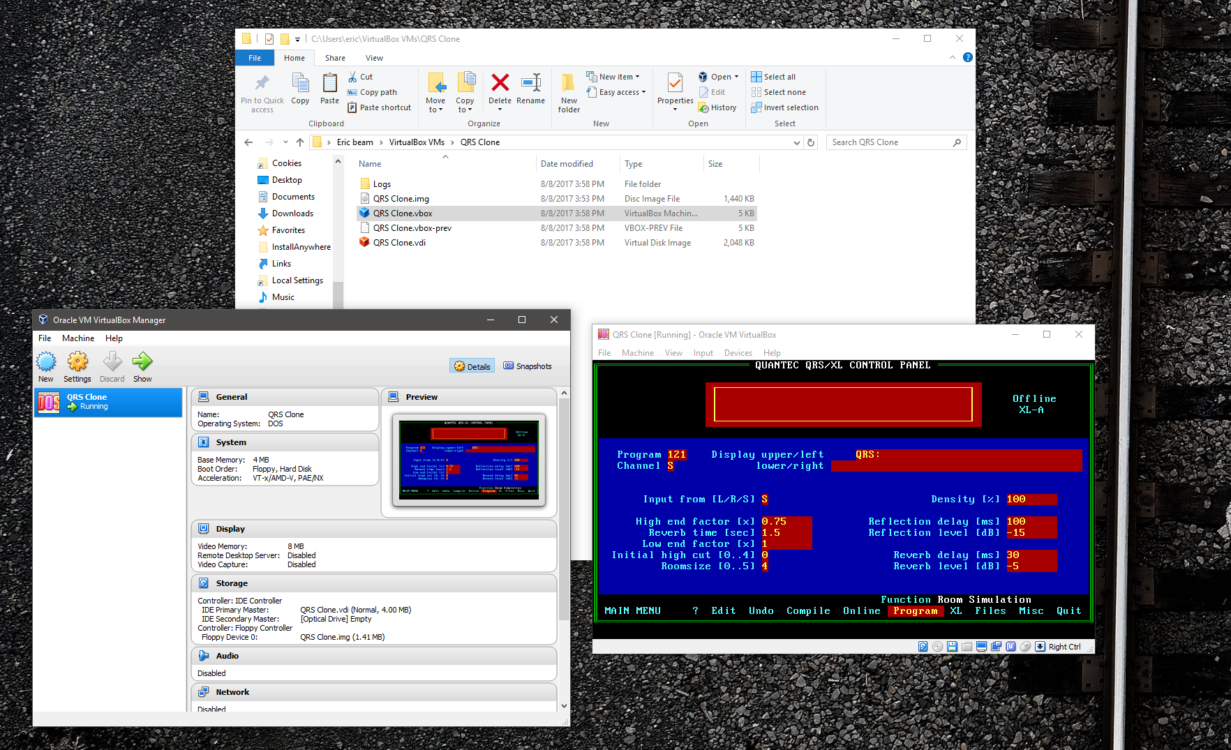 QRS Software control VIA Virtual machine.