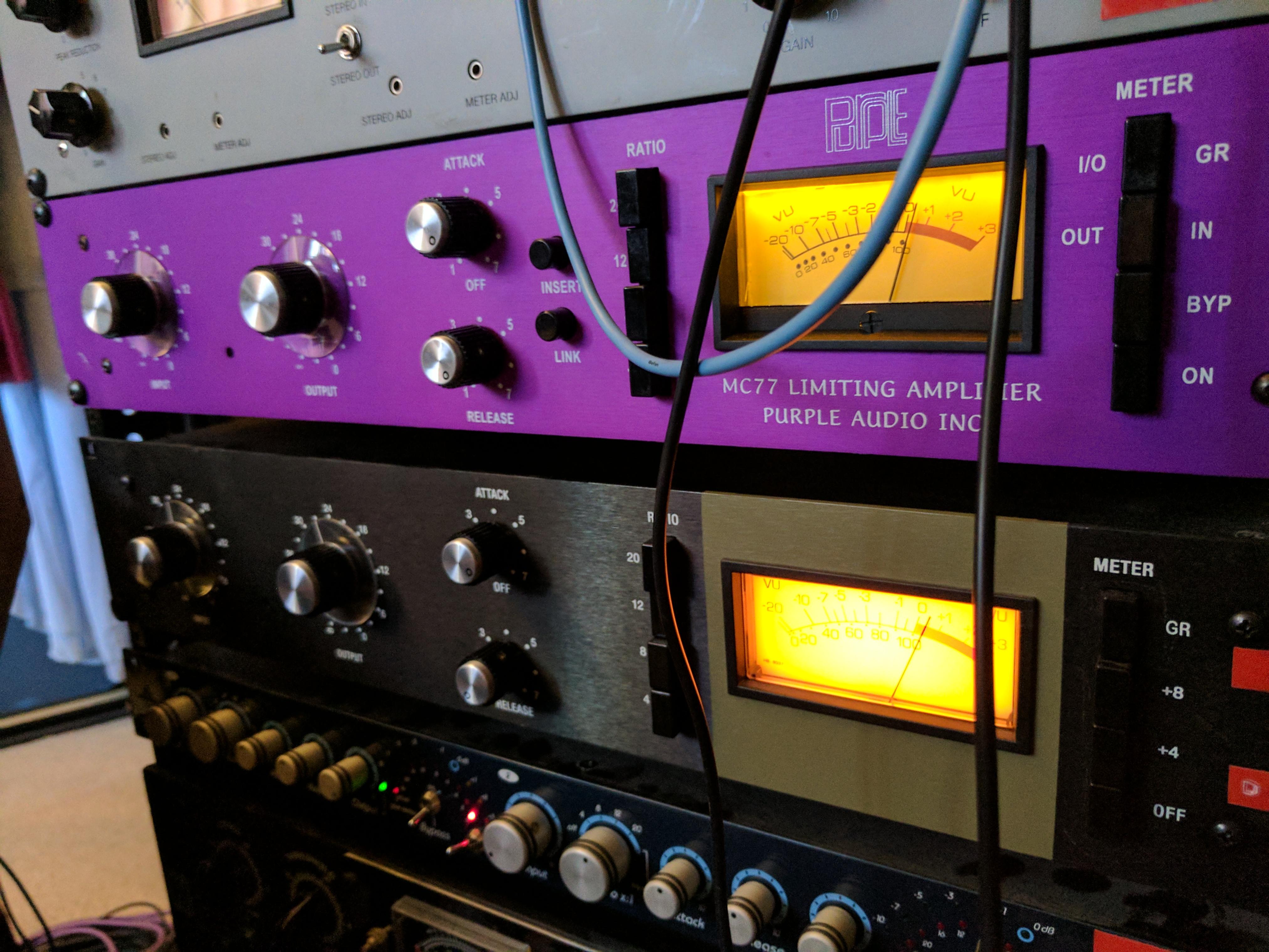 Purple Audio MC77 / Hairball Rev A comparison.