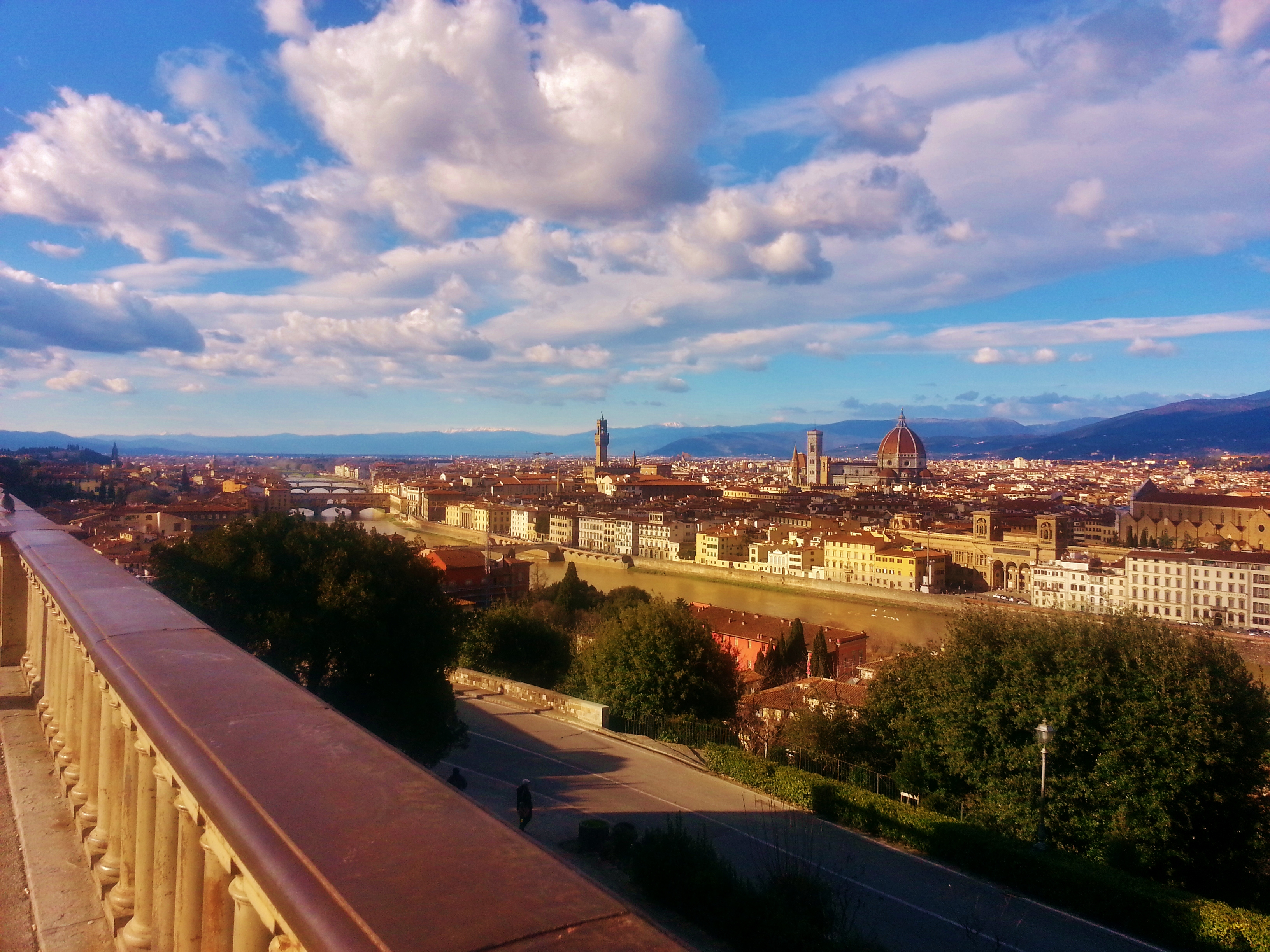 panoramic view florence michelangelo