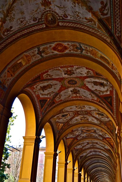 Arches in Bologna | Girl in Florence