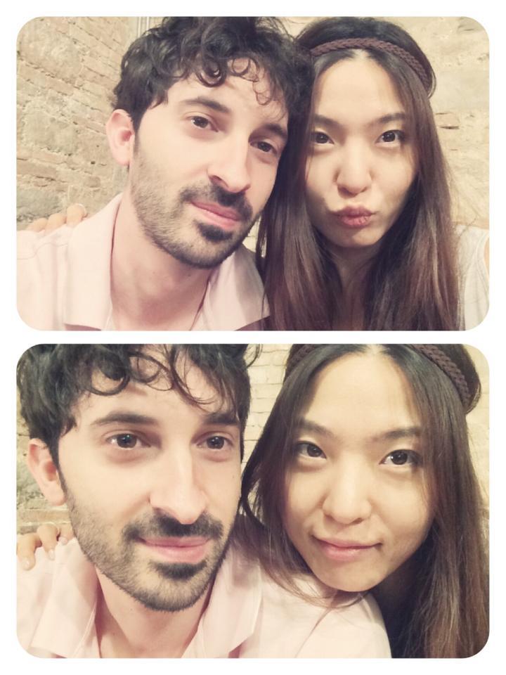 Julia and her boyfriend Alberto
