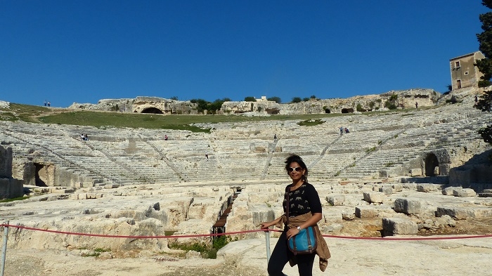 At the Greek theatre in Siracusa, Sicily