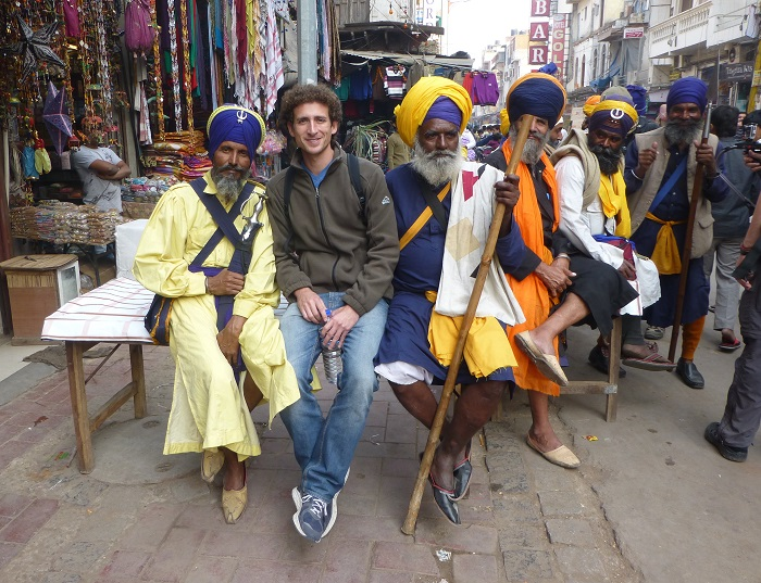 In Delhi with a few locals