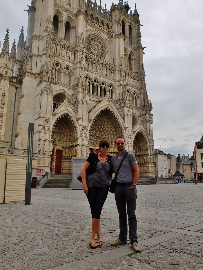 In front of Amien's Cathedral