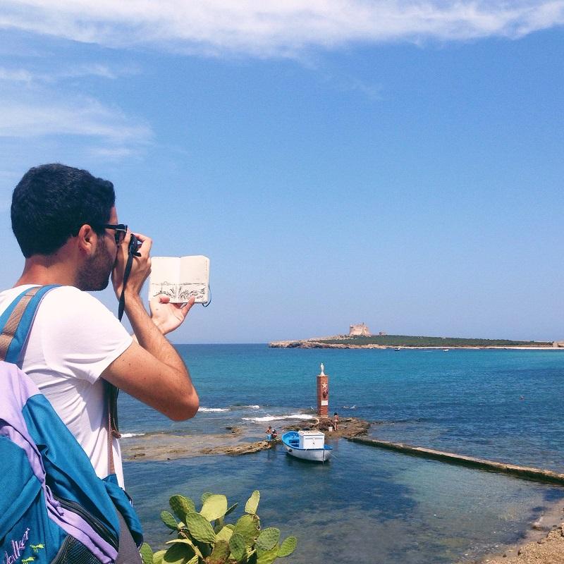 Behind Capo Passero Island Live Sketch
