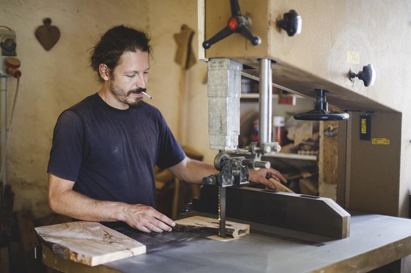 Giorgio in his workshop, photo credit: Maria of EaTravel