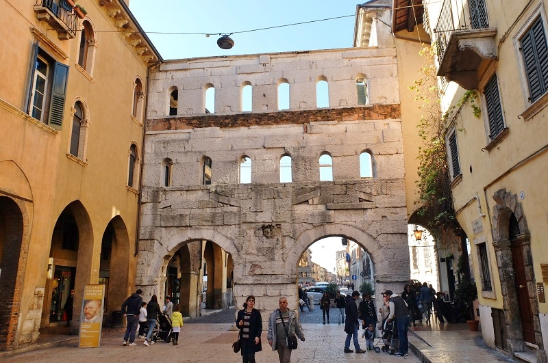 Porta Borsari - ancient Roman gate dating back to the first century AD