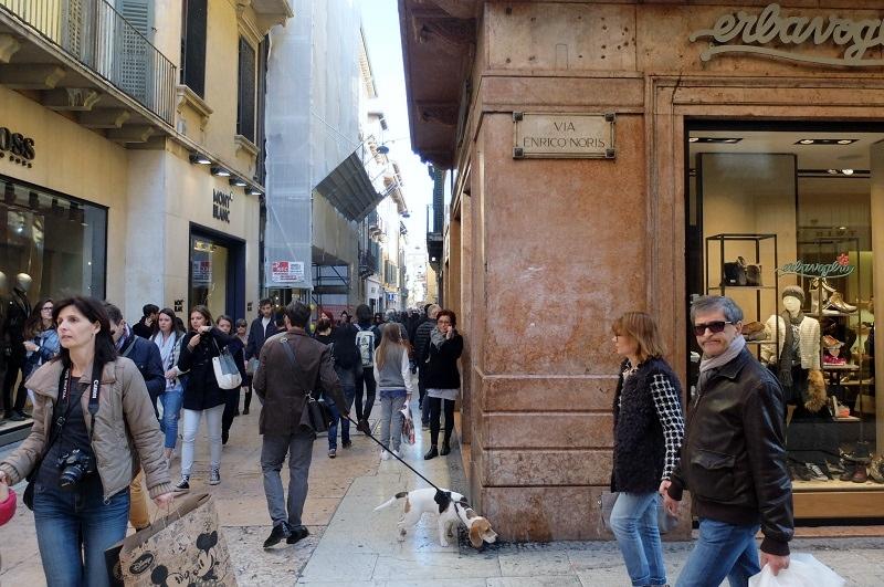 Verona's fashionable shopping streets