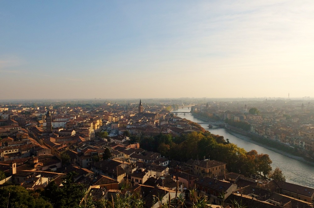 The magnificent view from Castel San Pietro