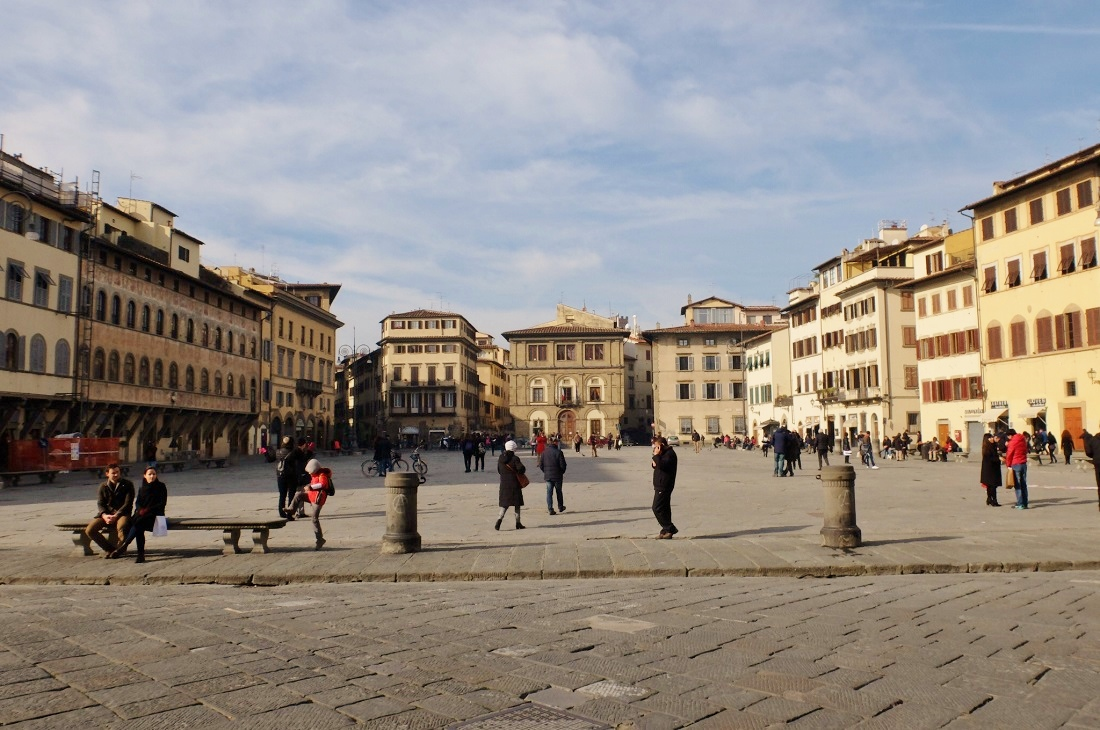 piazza santa croce florence italy