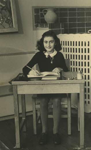 Anne Frank: Photo credit: Wikimedia Commons