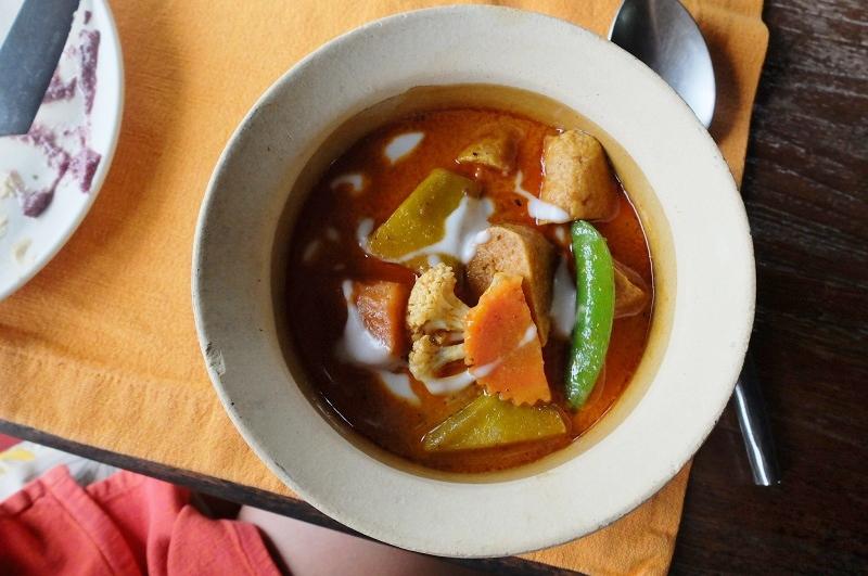 a spicy Thai curry