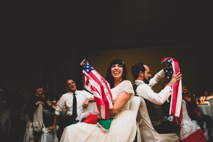Playing improvised games at our wedding is a European tradition. You could say we went along with it ;-). Photo by: Francesco Spighi Photography