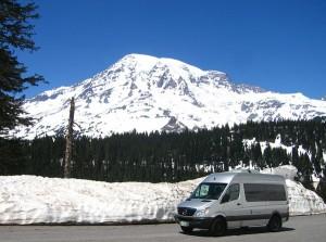 "The ""Lahar"" heading down from Mt Rainier"