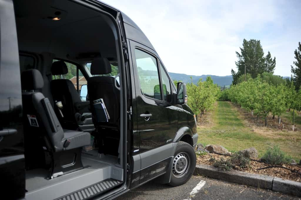 Escape vehicle at the Vineyards