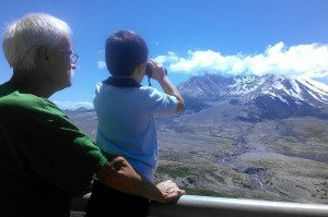 Family on Mount Saint Helens Tour