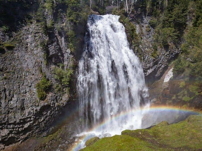 Narada Falls flowing from Paradise, Mt. Rainier National Park