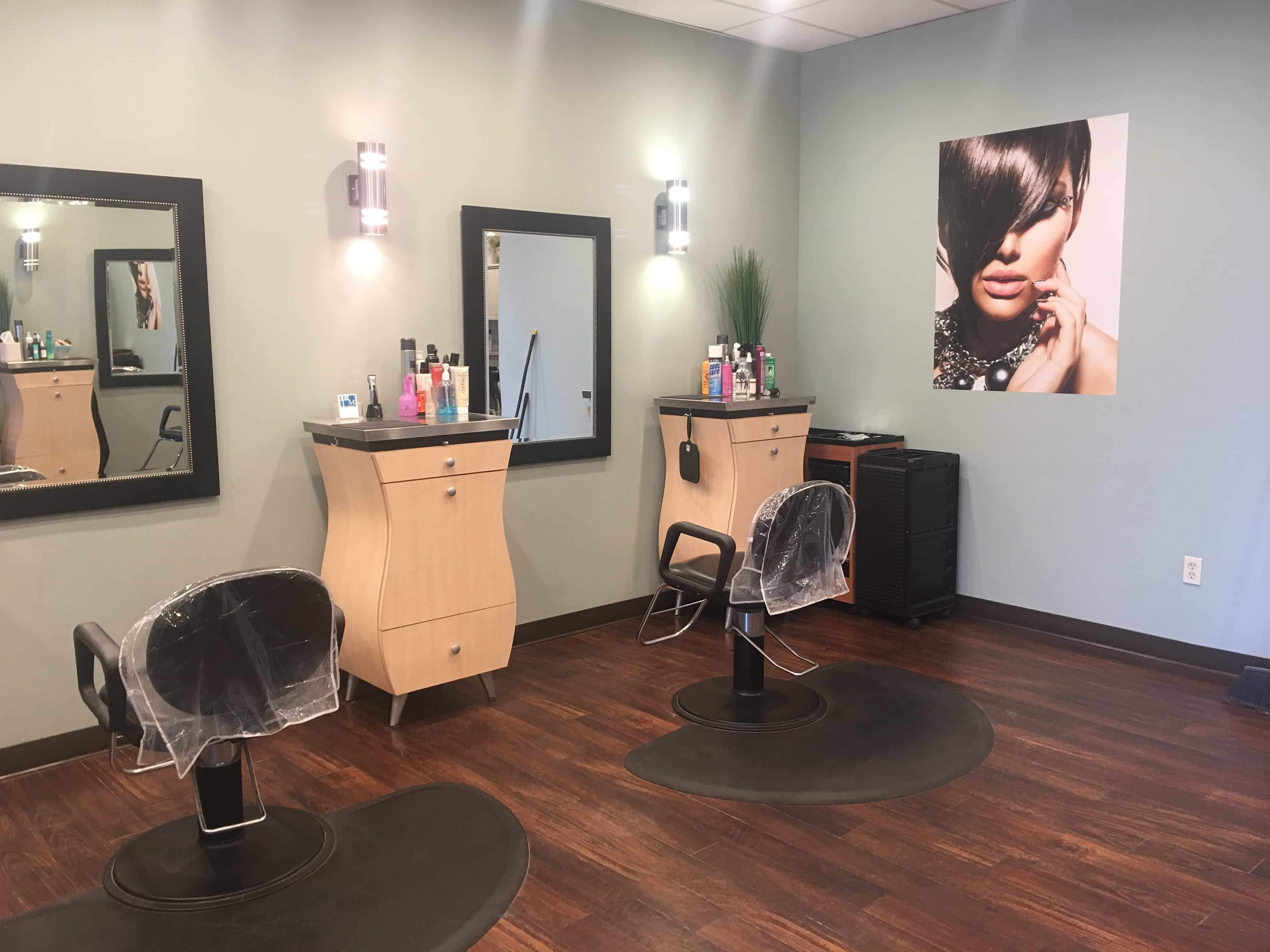 René Michael Salon Interior Beauty Stations and Chairs