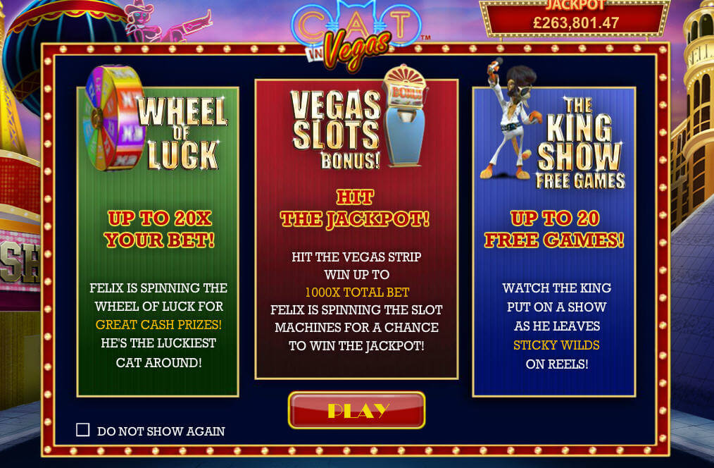 cat in vegas slot bonus rounds