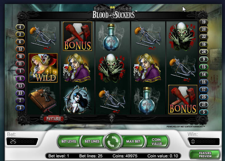 blood suckers slot with 98% RTP