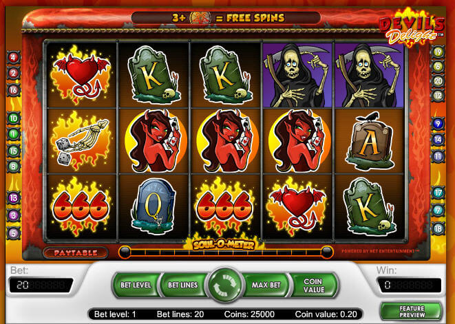 devils delights slot screenshot