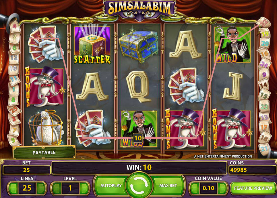 simsalabim slot game screenshot
