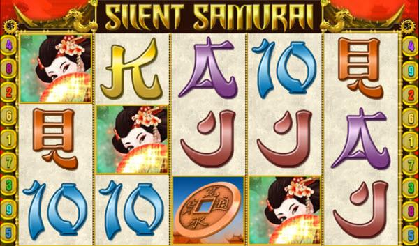 scatter symbol of silent samurai slot game