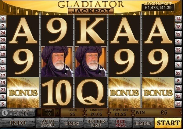 gladiator coloseum bonus